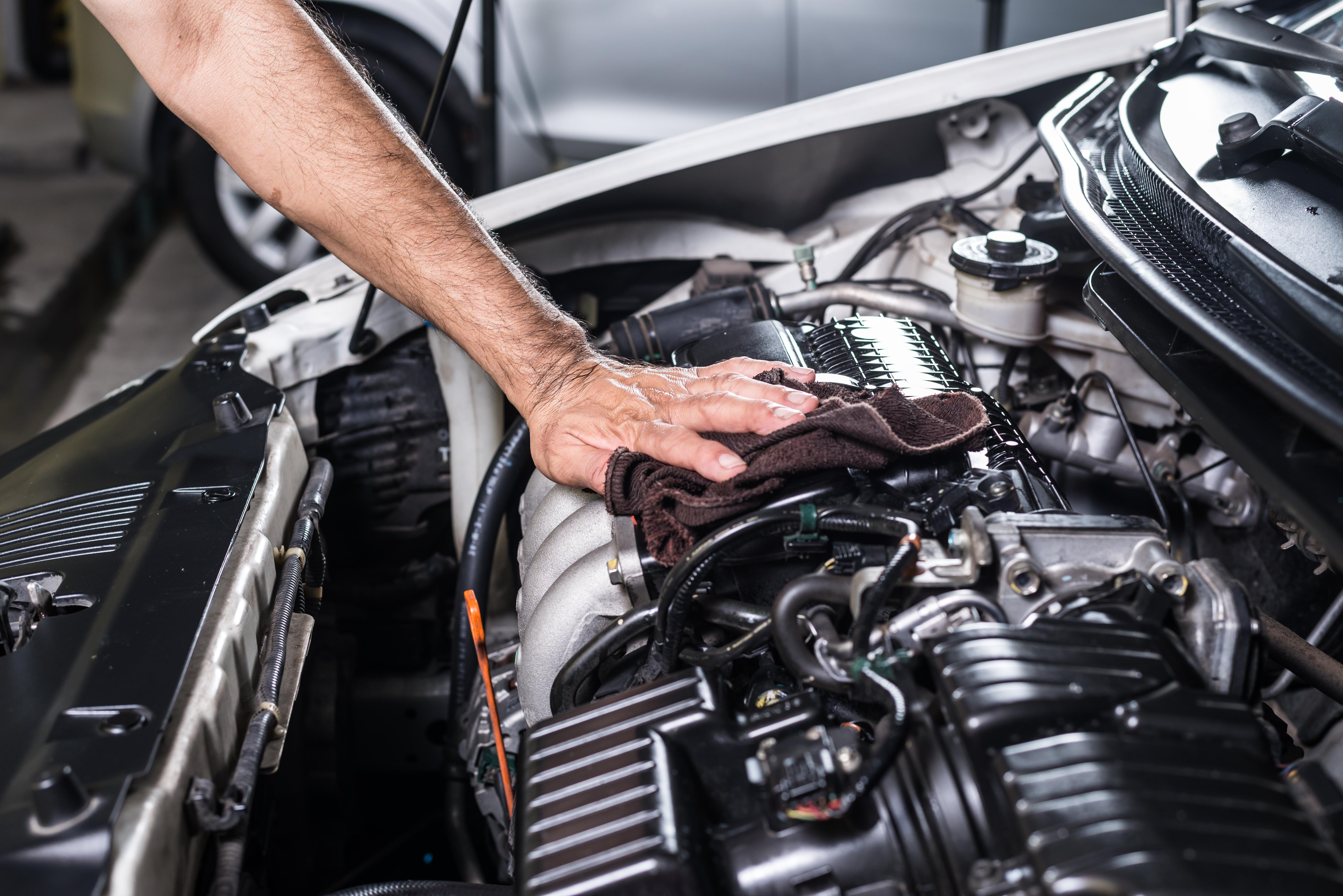 Car Engine needing repair.